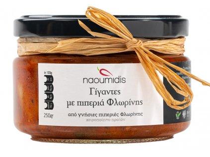 Naoumides BIO fazole gigantes v rajcatove omacce s florina paprikami GreekMarket