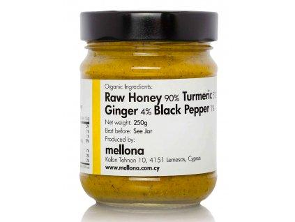 Mellona BIO pomazánka z raw med s kurkumou, zazvorem a cernym peprem Greek Market