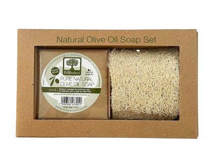 BIoselect darkove zabalene olivove mydlo s lufou GreekMarket