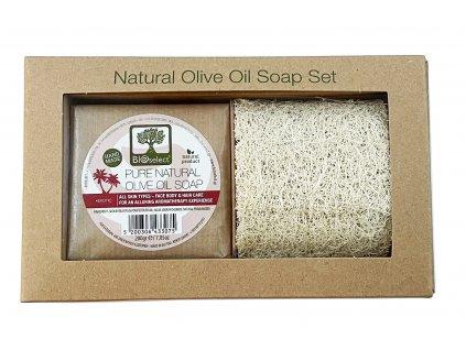 BIoselect darkove zabalene olivove mydlo exotic s lufou GreekMarket