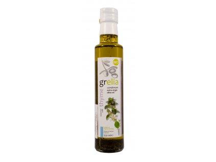 Extra panenský olivový olej S TYMIÁNEM BIO 250ml Grelia