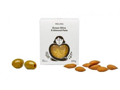 Pomazánka ze zelených oliv s mandlemi 220gr MELIMA