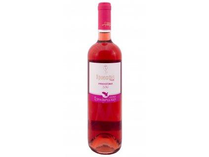 Růžové suché víno Hrisafis 750ml