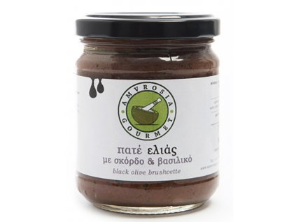 Amvrosia Gourmet pomazanka z kalamon oliv s cesnekem a bazalkou