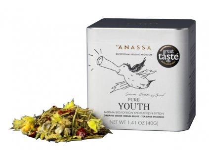 BIO bylinkový čaj PURE YOUTH 40g ANASSA