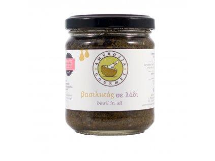 Bazalkové pesto v oleji 100g Amvrosia Gourmet