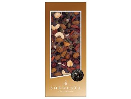 Mlecna a horka cokolada s orechy Sokolata Agapitos Greek Market