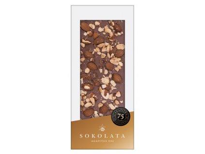 Mlecna cokolada s mandlemi Sokolata Agapitos Greek Market