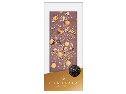 Mlecna cokolada s liskovymi orisky Sokolata Agapitos Greek Market