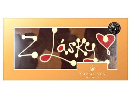 Agapitos mega cokolada s napisem z Lasky