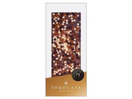 Mlecna horka a bila cokolada s krupinkami Sokolata Agapitos Greek Market