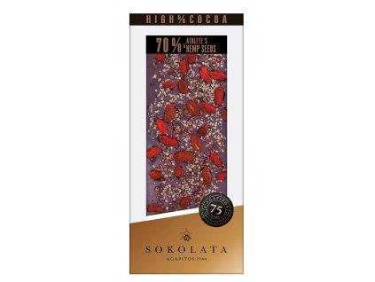 70% horka cokolada s goji a seminky Agapitos Greek Market