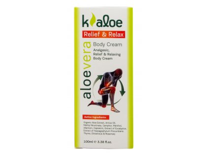 Kaloe telove mleko Relief & Relax s vytazkem z BIO Aloe vera 100ml Greek Market