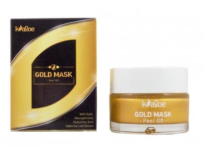 Kaloe cistici maska na oblicej GOLD s vytazkem z Aloe vera baleni 50ml