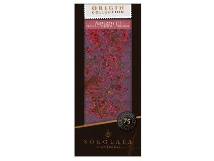 MADAGASCAR 67% horká cokoláda s ruzovým peprem, skoricí a kardamomem
