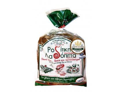 Recka pita z celozrnne mouky z ostrova Rhodos Roditiki ladopita Greek Market