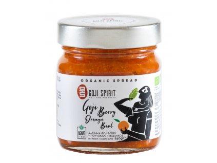 BIO pomazanka s goji berry, pomerancem a bazalkou Goji Spirit Greek Market