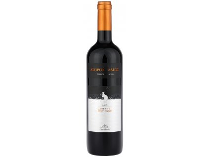 Cervene suche vino Aspros Lagos Cabernet Sauvignon z Krety Douloufakis Greek Market