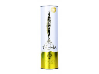 Thema 02 extra panensky olivovy olej 1l v plechovce Greek market