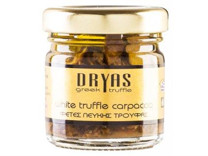 Dryas carpaccio z jarních bilych lanyzu z Recka Greek Market