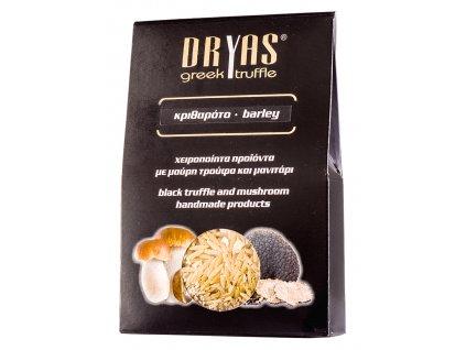 Dryas testovinova ryze s houbami a cernym letnim lanyzem Greek Market