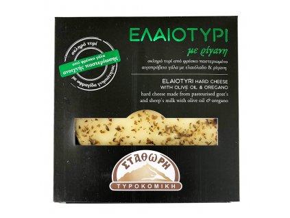 Stathoris Elaiotyri tvrdy syr z ovciho a koziho mleka s olivovym olejem a oreganem Greek Market