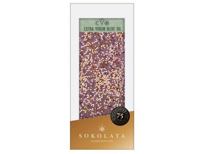 Horka cokolada s evo, bazalkou, quinoa a mořskou solí s česnekem Agapitos Greek Market