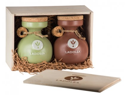 Ladolea darkovy box extra panensky olivovy olej a hroznovy ocet s bergamotem 400ml Ladolea