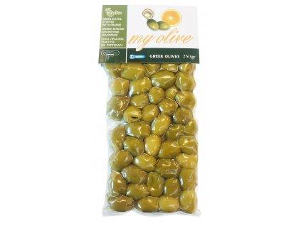 MyOlive zelene recke olivy plnene pomerancem GreekMarket