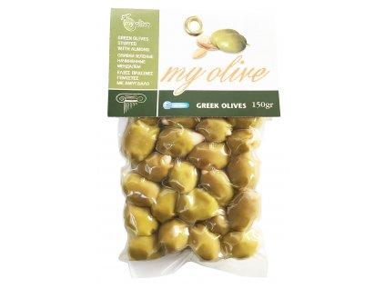My Olive zelene olivy plnene mandlemi 150g GreekMarket