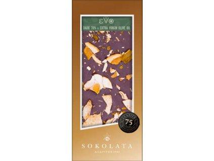 Sokolata Agapitos horka cokolada EVO s hribky a rozmarynem GreekMarket