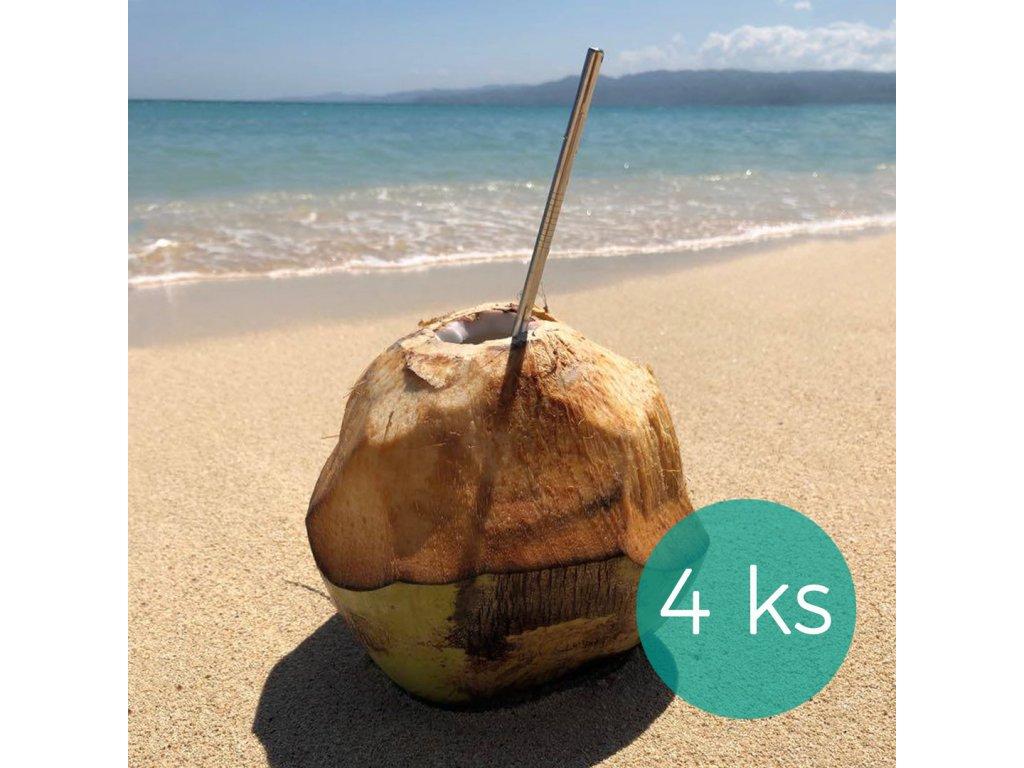 nerezova brcka rovna 4 kusy kokos greenloop cz