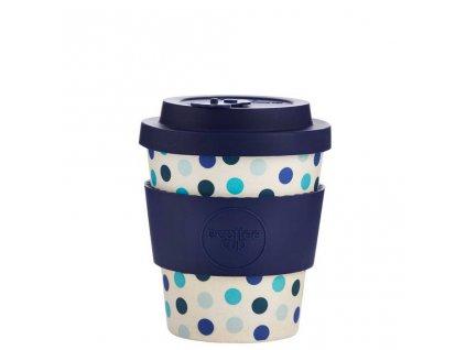 bambusovy hrnek ecoffee blue polka 250 ml greenloop cz