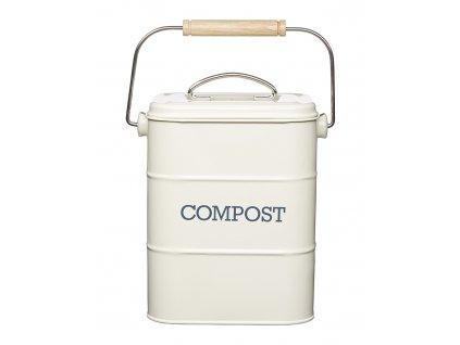 kremova nadoba na bioodpad do kuchyne greenloop cz