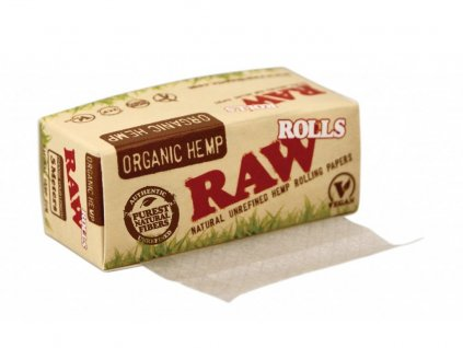 RAW Organic Rolls cigaretové papírky 5m