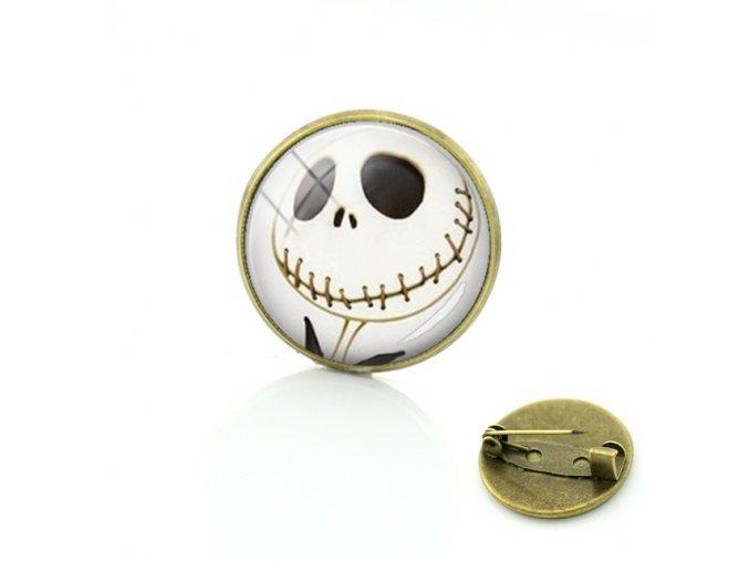 TAFREE Chakra Art hot Energy Healing Jewelry Nightmare Before Christmas brooch pins fashion men women Jack jpg 640x640