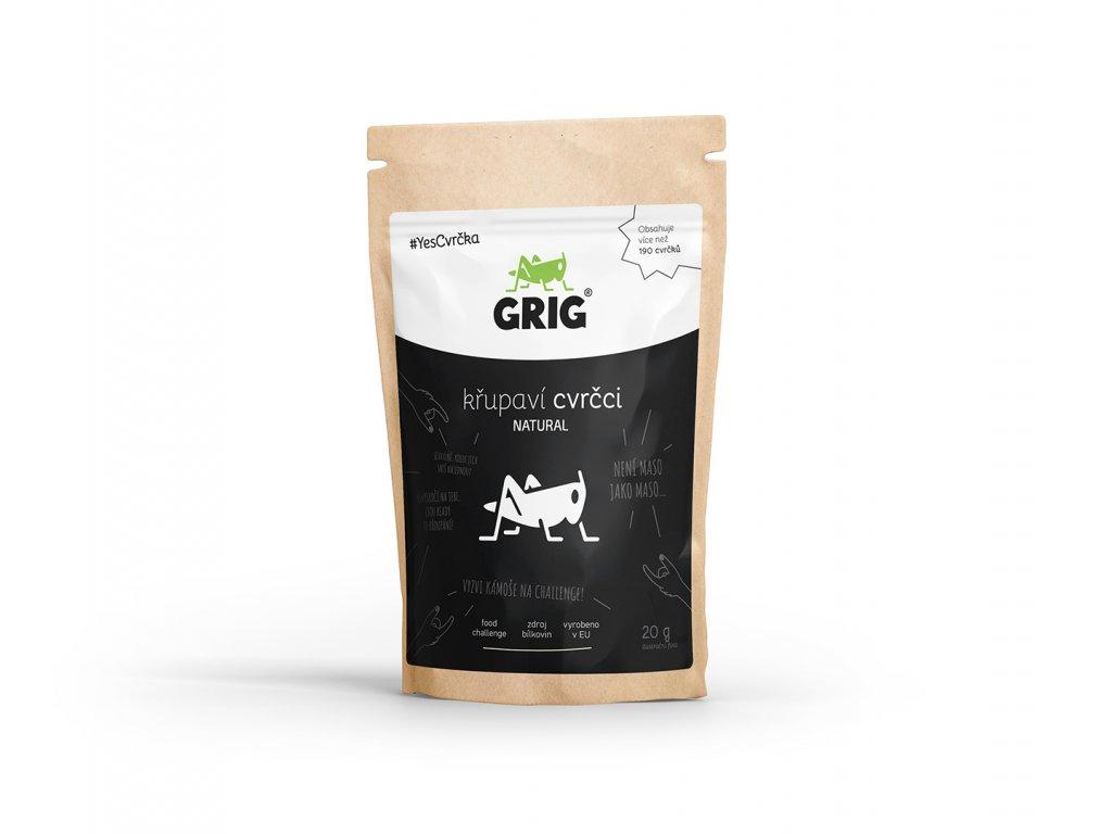 Sušení Křupaví cvrčci Grig Natural Jedlý hmyz