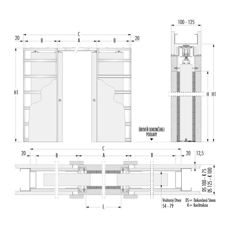 stavebne-puzdro-eclisse-dvojkridlove-verzia-sadrokarton-hrubka-dokoncenej-steny-100-125mm-dverny-priechod-1250x1970mm