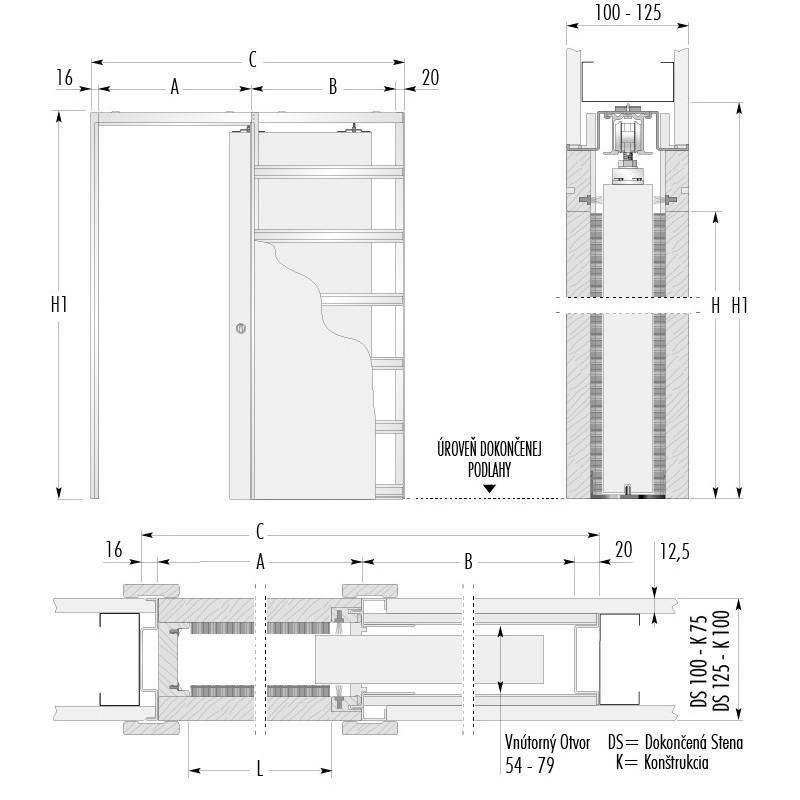 stavebne-puzdro-eclisse-jednokridlove-verzia-sadrokarton-hrubka-dokoncenej-steny-100-125mm-dverny-priechod-600x1970mm