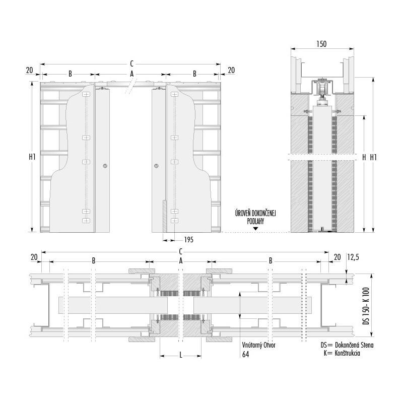 stavebne-puzdro-eclisse-luce-dvojkridlove-verzia-sadrokarton-hrubka-dokoncenej-steny-150mm-dverny-priechod-1250x1970mm
