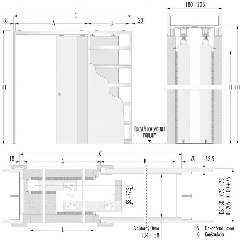 stavebne-puzdro-eclisse-teleskopicke-verzia-sadrokarton-hrubka-dokoncenej-steny-180mm-dverny-priechod-1200x1970mm