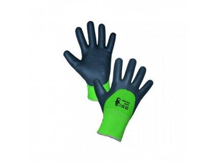 povrstvene zimne rukavice roxy double winter cierno zelene vel 10 (1)