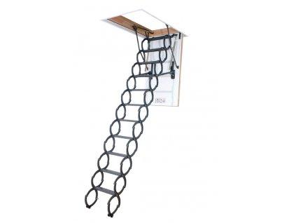 PODKROVNÉ SCHODY LST nožnicové - systém prispôsobenia dĺžky rebríka
