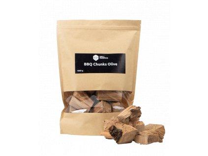 Oliva dřevěné kousky BBQ 1kg Grill Fanatics