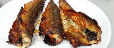 Grilované pikantní makrely