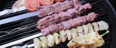Hovězí kebab se zeleninou