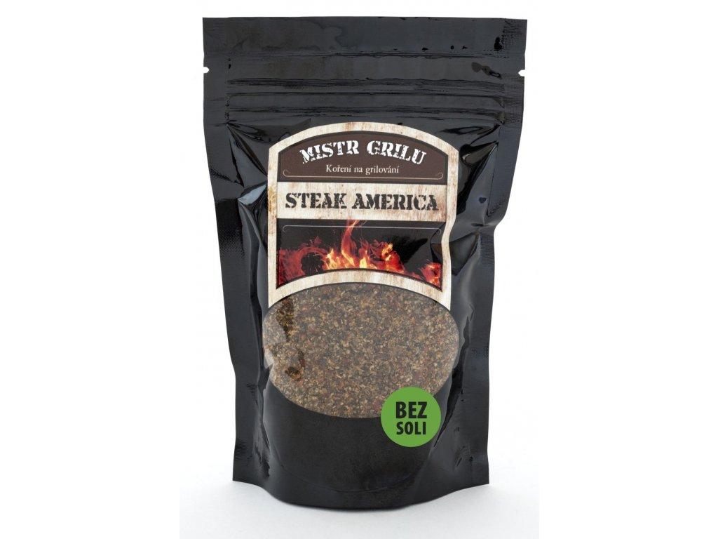 Grilovací koření BEZ SOLI - Steak America, 100g