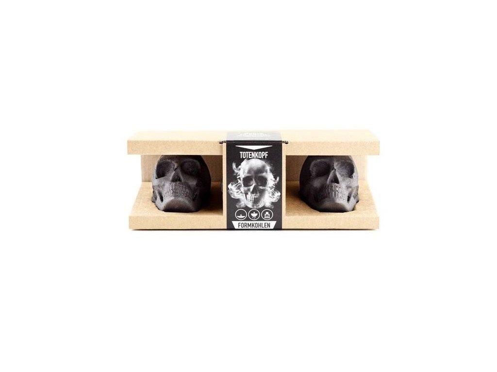 Brikety z dřevěného uhlí LEBKA - dárkový box se 3 kusy