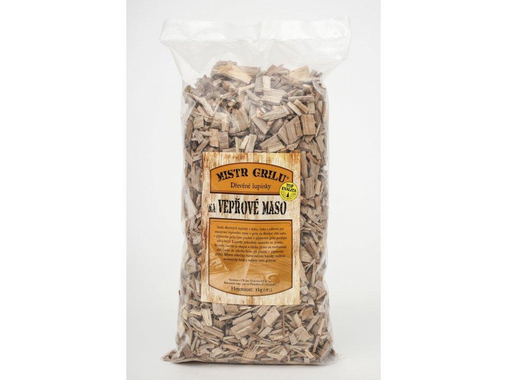 Dřevěné lupínky k uzení VEPŘOVÉHO masa - 1kg