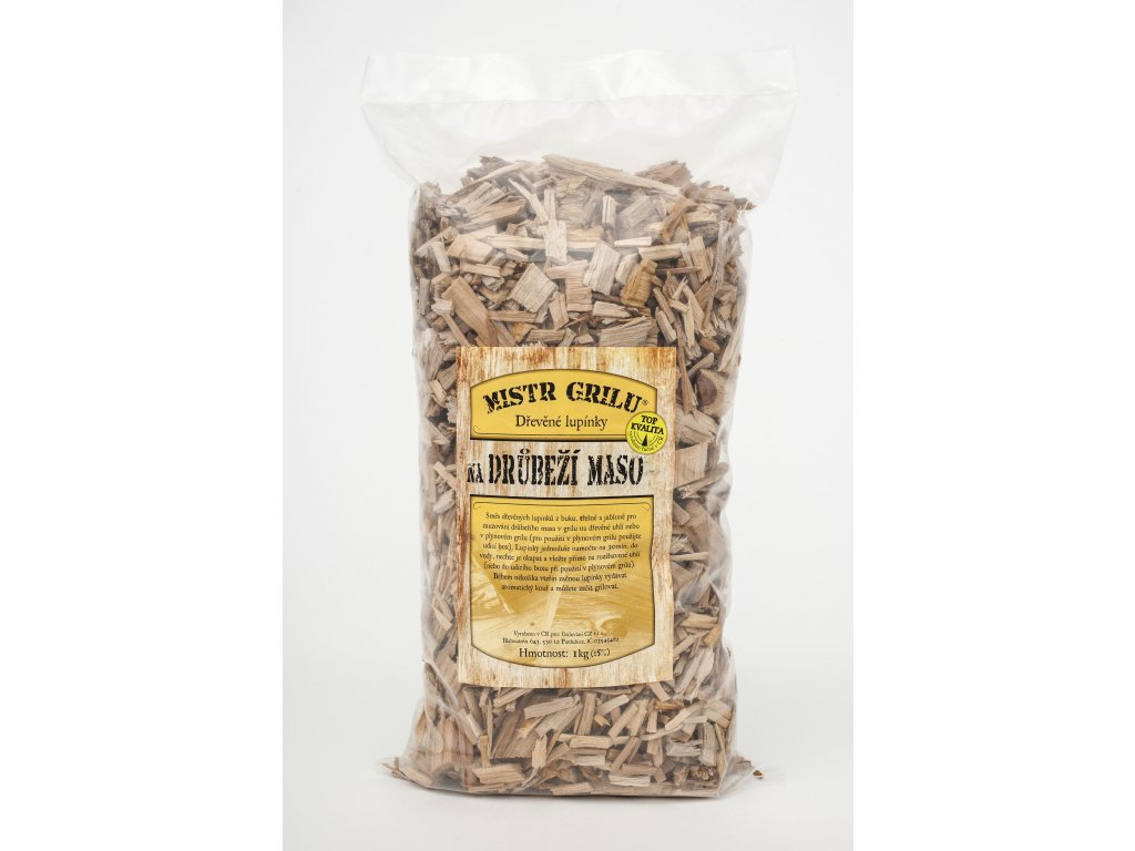 Dřevěné lupínky k uzení DRŮBEŽÍHO masa - 1kg